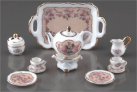 Coffee Set - Classic Rose Pattern