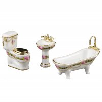 "Bathroom Set - Victoria Pattern - 1/2"" Scale / 1:24"