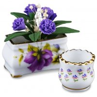 Flower Pot with Lilacs