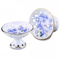 Blue Onion - Bowl On Stand - (2 In Pack)