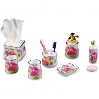 Bathroom Set - Dresdner Rose Pattern