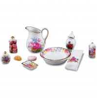 Bathroom Wash Set Dresden Rose