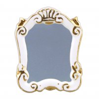 Baroque Mirror - White
