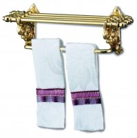 Towel Rack With White & Red Towel (2 In Pack)