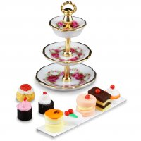 3 Tier Cake Stand With Cakes