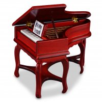 Spinet Piano - Wood
