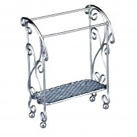 Empty Silver Towel Stand