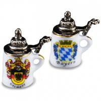 Bier Stein with Lid - (2 in pack)