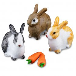 3 Rabbits & Carrots