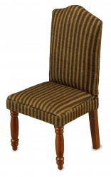 Dining Room Chair With Cover - Brown Striped